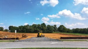 Site work has begun on the SpringHills Suites hotel near Snowden Bridge.