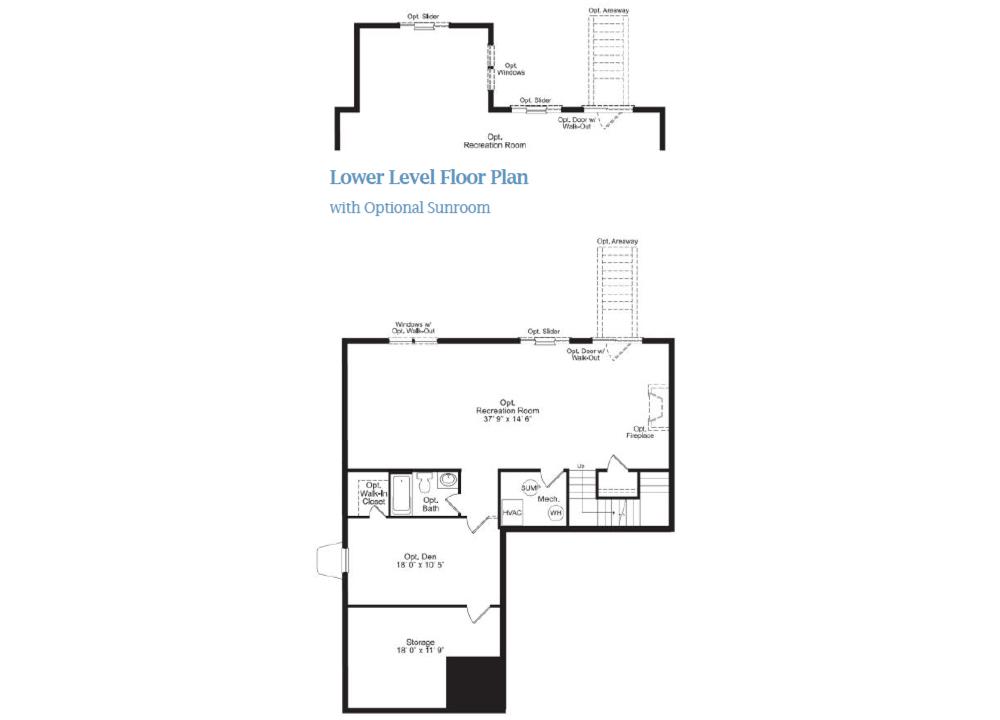 The Sumner - Lower Level Floorplan